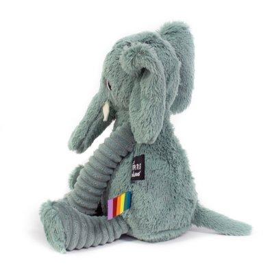 Peluche bébé éléphant vert les ptipotos Les deglingos