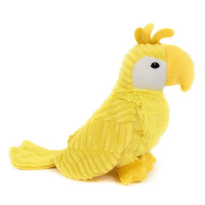 Peluche bébé perroquet jaune les ptipotos Les deglingos