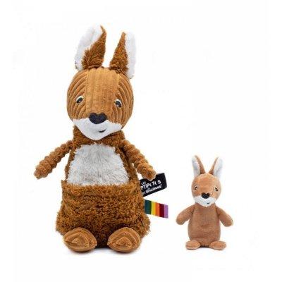 Peluche bébé kangourou allezou maman et bébé rouille les ptipotos Les deglingos