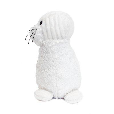 Peluche bébé phoque glissou blanc les ptipotos Les deglingos