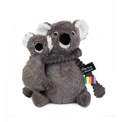 Peluche bébé koala trankilou maman et bébé gris les ptipotos Les deglingos