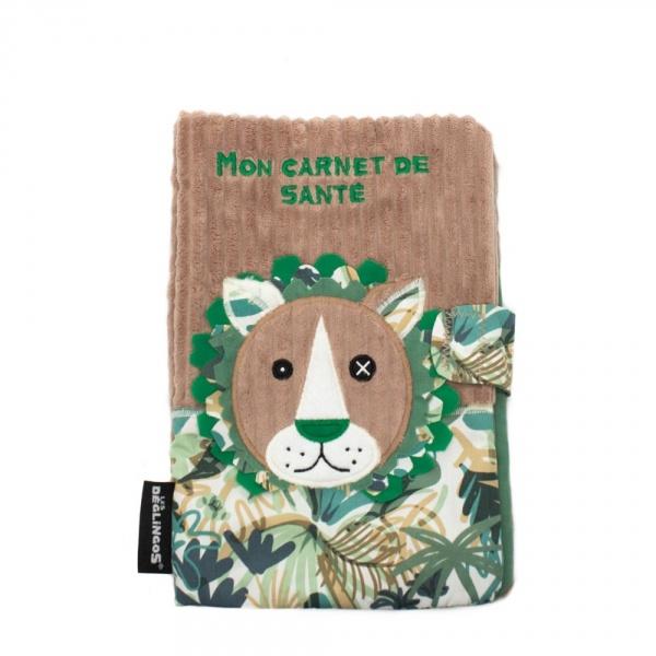 Protège carnet de santé le lion jelekros Les deglingos