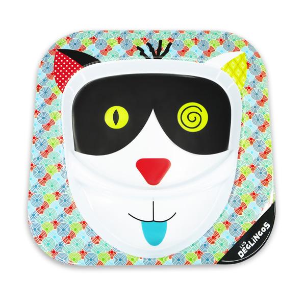 Assiette mélamine le chat charlos Les deglingos