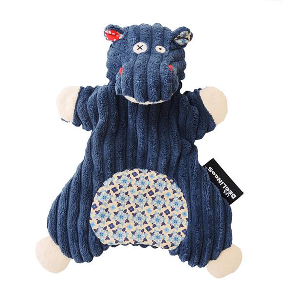 Doudou marionnette l'hippopotame hippipos Les deglingos
