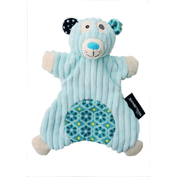 Doudou marionnette l'ours polaire illicos Les deglingos