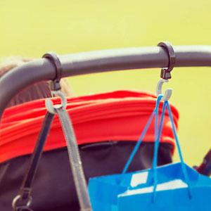 Crochets porte-sacs pour poussette buggy hooks