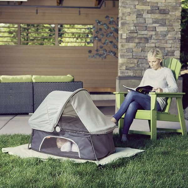 berceau de voyage dreamland gris 10 sur allob b. Black Bedroom Furniture Sets. Home Design Ideas