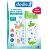 Lot de 2 biberons sans bpa sensation+ orange et vert 330ml Dodie