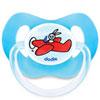 Sucette silicone 18 mois et plus avion bleu Dodie