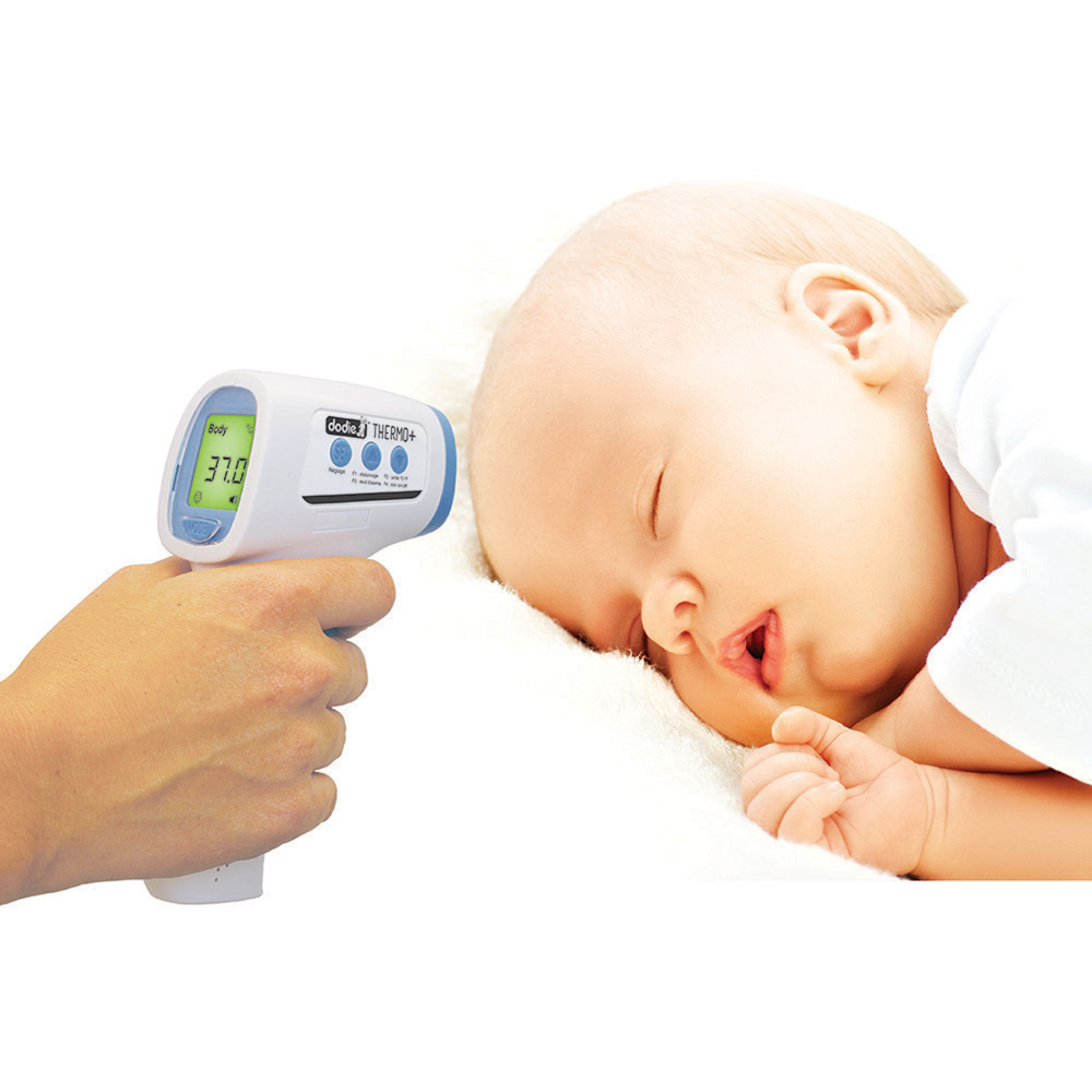 Thermom tre b b sans contact frontal de dodie - Thermometre hygrometre chambre bebe ...