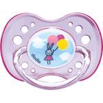 Sucette silicone avec anneau 18 mois et plus fille n°42 pas cher