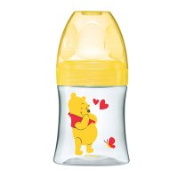 Biberon sans bpa sensation+ winnie jaune 150 ml