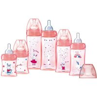 Coffret de 6 biberons sans bpa initiation fille