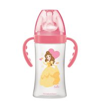 Biberon sans bpa initiation+ avec anses belle rose 270ml