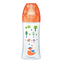 Biberon sans bpa sensation+ orange forêt 330ml