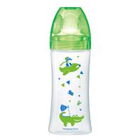 Biberon sans bpa sensation+ vert dinosaure 330ml