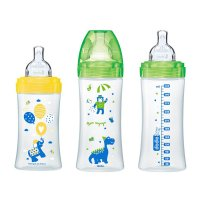 Lot de 3 biberons sans bpa sensation+ 1x 270ml + 2x 330ml
