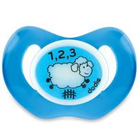 Sucette silicone nuit 18 mois et plus mouton