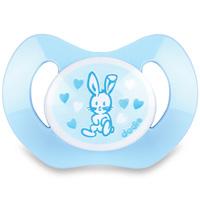 Sucette silicone nouveaux-nés valentin bleu