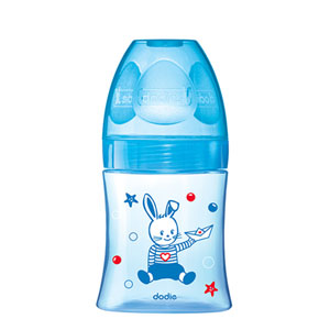 Biberon sans bpa initiation+ bleu 150 ml