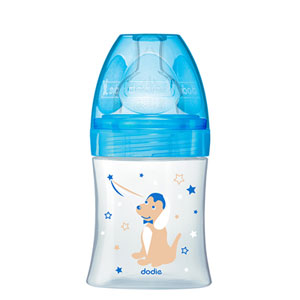 Biberon sans bpa sensation+ bleu ourson 150ml