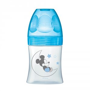 Biberon sans bpa sensation+ mickey bleu 150ml