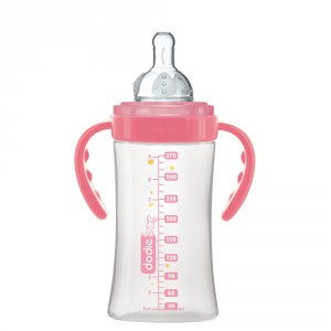 Dodie Biberon sans bpa initiation+ avec anses belle rose 270ml