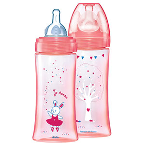 Coffret de 2 biberons sans bpa initiation+ fille 330 ml