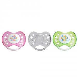 Sucette bébé silicone avec anneau 0-6 mois transparent a20