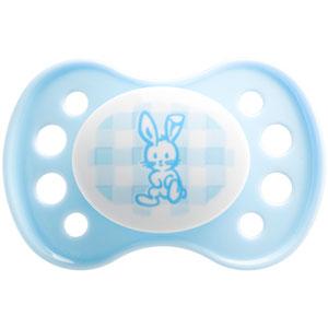 Sucette silicone nouveaux-nés bleu