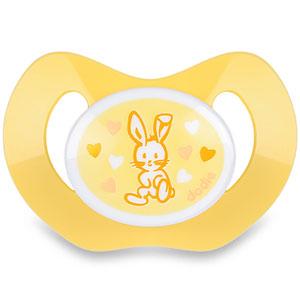 Sucette silicone nouveaux-nés valentin jaune