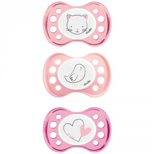 Sucette silicone 0-2 mois fille