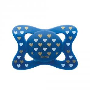 Sucette silicone 6 mois et plus chic coeur bleu foncé