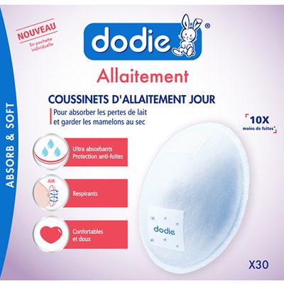 Coussinets d'allaitement jour x30 Dodie