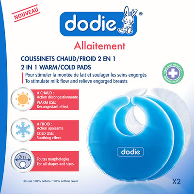Coussinets d'allaitement chaud / froid 2 en 1 x2 Dodie