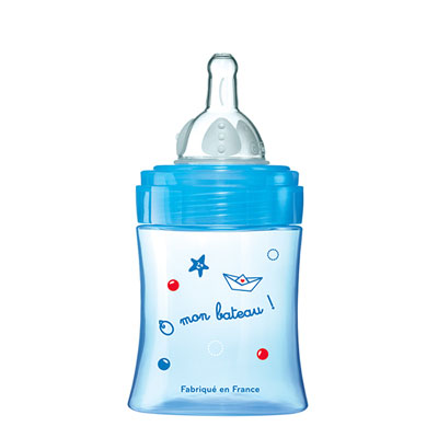 Biberon sans bpa initiation+ bleu 150 ml Dodie