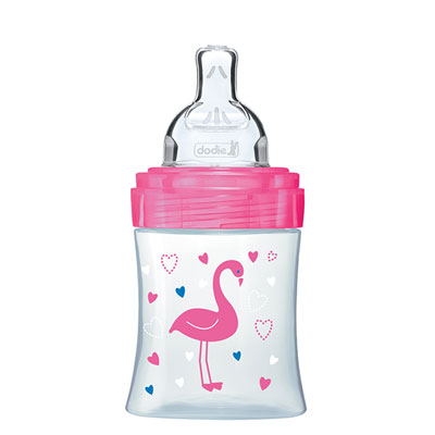 Biberon sans bpa sensation+ rose flamant 150ml Dodie