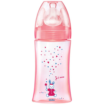 Biberon sans bpa initiation+ rose 270ml Dodie