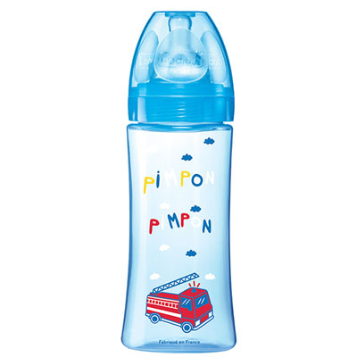 Biberon sans bpa initiation+ bleu 330 ml Dodie