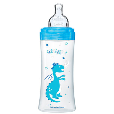 Biberon sans bpa sensation+ bleu dragon 330ml Dodie
