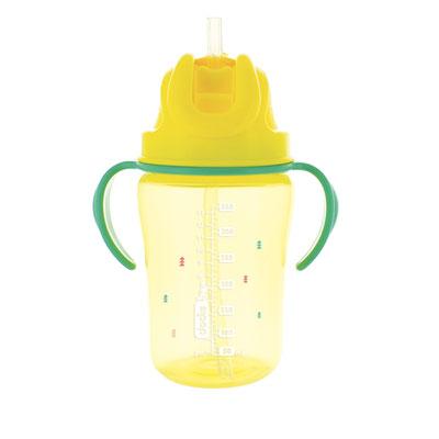 Tasse à paille 350ml 18 mois et + jaune Dodie