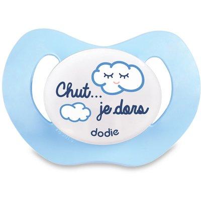 Sucette silicone 0-6 mois nuit nuages garçon p39 Dodie