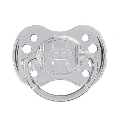 Sucette silicone avec anneau 0-6 mois transparent Dodie