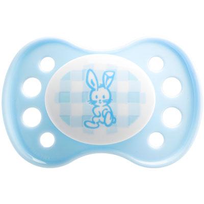 Sucette silicone nouveaux-nés bleu Dodie