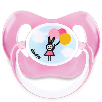 Sucette silicone 18 mois et plus ballon rose Dodie