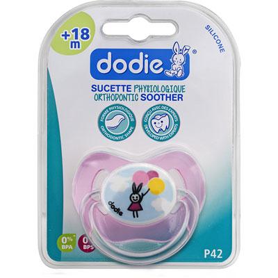 Dodie Sucette bébé silicone 18 mois et plus ballon rose 1
