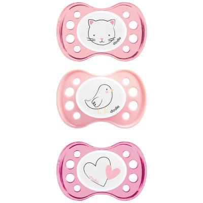 Sucette silicone 0-2 mois fille Dodie