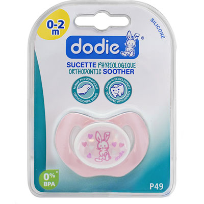Sucette silicone nouveaux-nés valentin rose Dodie