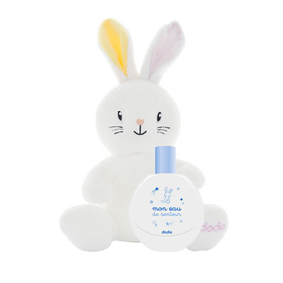 Coffret eau de senteur bébé avec doudou lapin fille Dodie