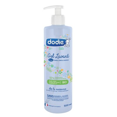 Gel lavant 3en1 flacon pompe 500ml Dodie
